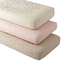 organic mattress crib pink well nested woodland crib fitted sheet set the land of nod