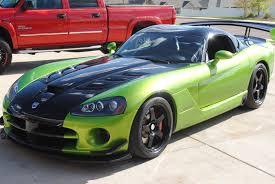 Dodge Viper Green - 2009 dodge viper acr snake skin green new muscle cars