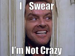 Your Crazy Meme - i swear i m not crazy quickmeme