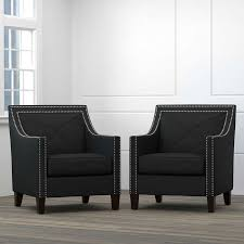 Black Accent Chair Victor Fabric Black Accent Chairs 2 Pack