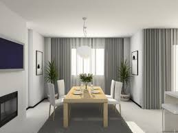 modern dining room curtains home interior design ideas