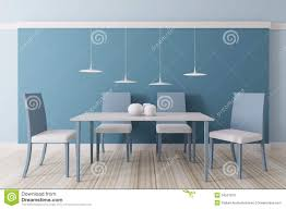 Blue Dining Room by Interior Of Dining Room 3d Stock Photo Image 34551970