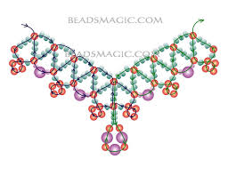 free necklace beading images Free pattern for necklace levona beaded patterns at awwake me jpg