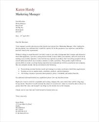 marketing cover letter marketing cover letter examples teacher