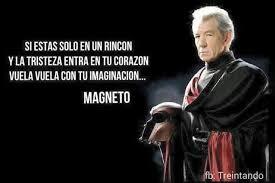 Magneto Meme - si est磧s solo en un rinc祿n y la tristeza entra en tu coraz祿n vuela