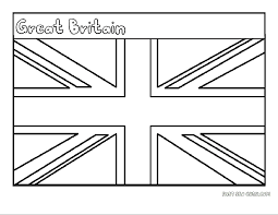 england flag coloring page draw 9440