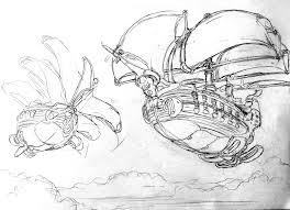 artstation the merchant ship predator leaving spire albion
