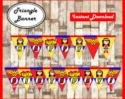 printable transformers birthday banner wonder woman party kit complete wonder woman party printable