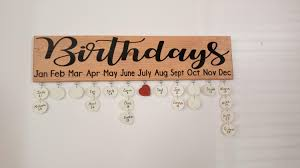 birthday board birthday board with oak stained wood family birthday board
