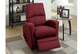 swivel recliner wiv red fabric swivel recliner steal a sofa furniture outlet los