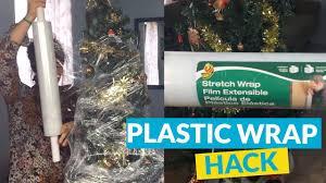 plastic wrap tree storage