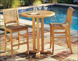 Outdoor Furniture High Table And Chairs by Teaksmith 1 In Teak Furniture
