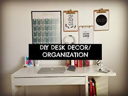 Desk Decorating Cute Cheap And Easy Diy Desk Decor U0026 Organization Youtube