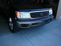 lexus lx470 black grill 98 to 06 headlight grill conversion complete w a couple pics