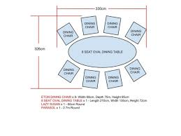 Dining Table Dimensions Measurements Intended For Incredible - Round dining table size for 8