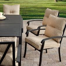 Iron Patio Dining Set Dining Room Handsome Rectangular Black Metal Expandable Outdoor