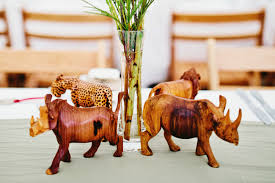 themed centerpieces for weddings a lion king inspired themed wedding rhinos themed