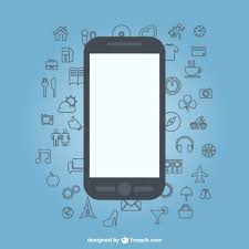 sketch icons flat mobile phone design vector free download