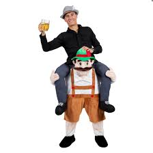 carry me bavarian beer guy funny adults mascot fancy dress costume