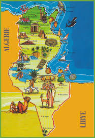 Map Of North Africa by Tunisia Attractions Map