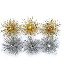 time ornaments walmart glitter burst gold and silver