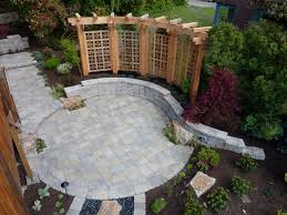 Backyard Pavers Brilliant Backyard Paver Designs With Patio With Pavers Designs