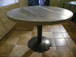 zinc top round dining table round zinc top dining table on agricultural base stissing design