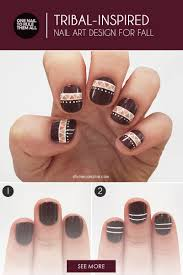 tribal inspired nail art design perfect for fall more com