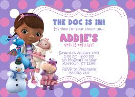 doc mcstuffins birthday invitations reduxsquad com