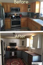 Best Paint Color For Kitchen With Dark Cabinets by Top 25 Best Painted Kitchen Cabinets Ideas On Pinterest