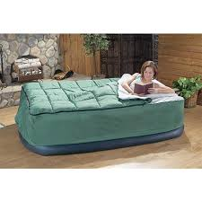 Twin Inflatable Bed by Guide Gear Queen Air Bed Fitted Cover Sleeping Bag Green