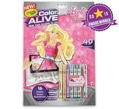 color alive barbie crayola