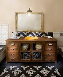 bathroom vanity bathroom shabby chic style with wall lighting