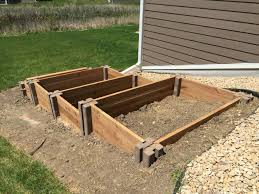 raised garden bed on sloped area gardens permaculture