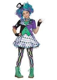 Halloween Costumes Mad Hatter Mad Hatter Party Tween Teen Costume Hat Poofy Cute