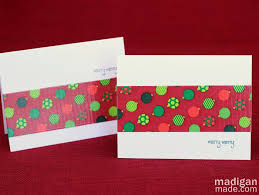 easy handmade holiday cards rosyscription