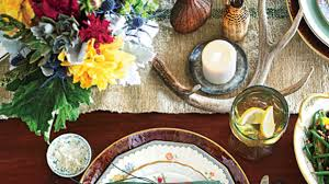 warm u0026 rustic thanksgiving table setting southern living