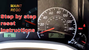 2010 toyota corolla maintenance light reset 2012 toyota corolla maint reqd maintenance required light reset