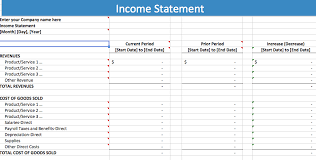 Year To Date Profit And Loss Statement Free Template by Income Excel Template Pacq Co