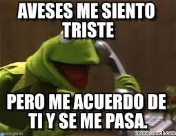 Memes Rana Rene - aveses me siento triste rana ren礬 tel礬fono meme on memegen