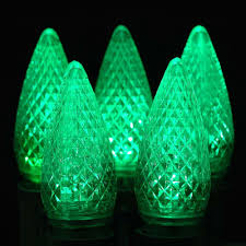 25 pack of c9 green ceramic opaque replacement light