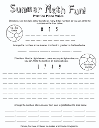 place value summer fun printable parents scholastic com