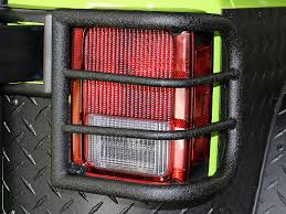 jeep wrangler brake light cover body armor 4x4 wrap around tail light guards in black for 07 up jeep
