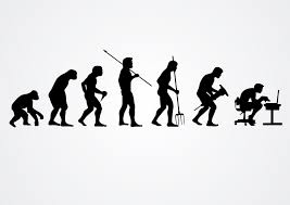 Free Silhouette Images Evolution Of Human Work Silhouettes Vector Download