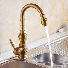 Antique Brass Kitchen Faucet Free Shipping European Design Antique Brass Kitchen Tap Antique