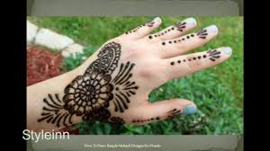 how to draw simple mehndi designs for hands video dailymotion
