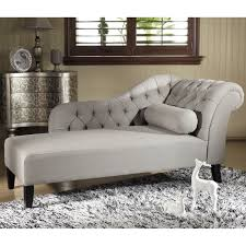 Modern Chaise Lounge Sofa by Baxton Studio U0027aphrodite U0027 Tufted Putty Gray Linen Modern Chaise