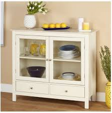 Buffet Glass Doors by White China Cabinet Buffets And Sideboard Hutch Dining Storage