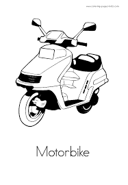 motorbike color pages coloring pages for kids transportation