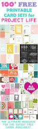 100 free printable project life journaling card insert sets